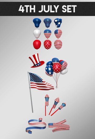 4th July Set – Free 3d Render Templates