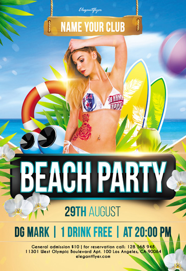 Papaya Party – Flyer PSD Template