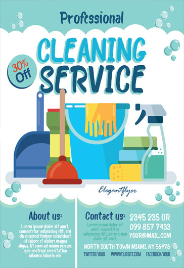 Cleaning Service – Flyer PSD Template