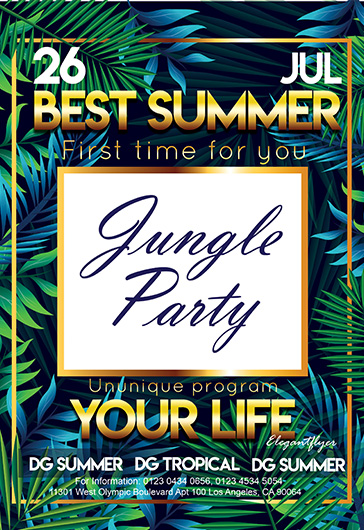 Jungle Party – Flyer PSD Template