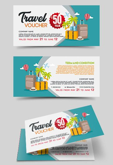 travel voucher template  u2013 by elegantflyer