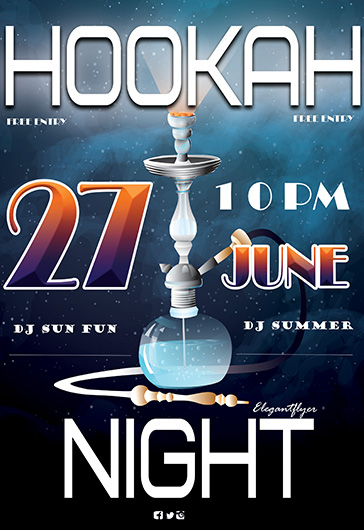 Hookah Night – Flyer PSD Template