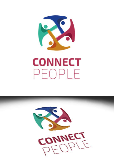 Connect People – Premium Logo Template