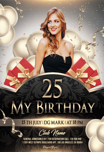 20th anniversary party Flyer Template