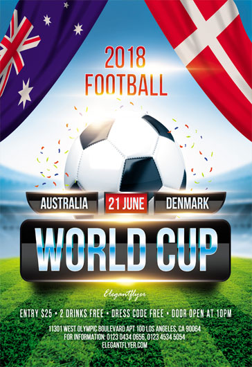 World Cup – Flyer PSD Template