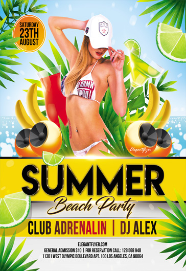 Summer Sunset Party – Flyer PSD Template