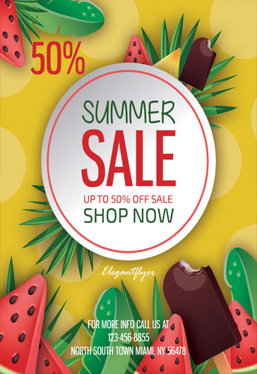 Summer Sale – Flyer PSD Template