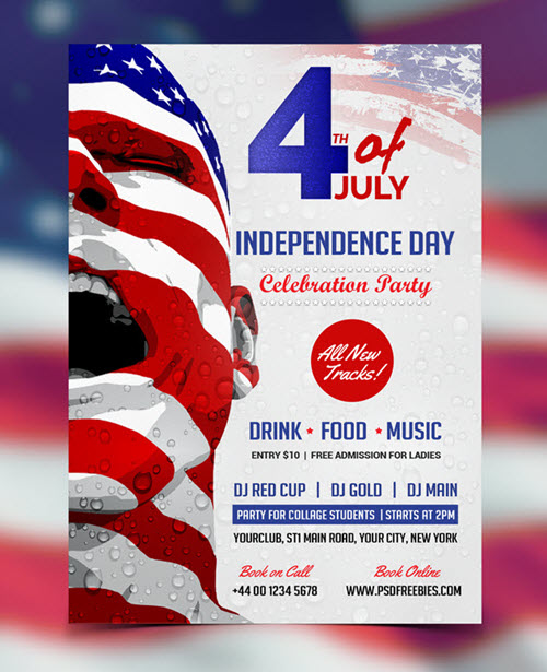 20 Free and Premium PSD Flyers for Independence Day