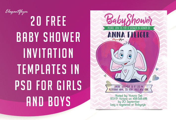 20 free and premium baby shower invitation templates in psd by elegantflyer
