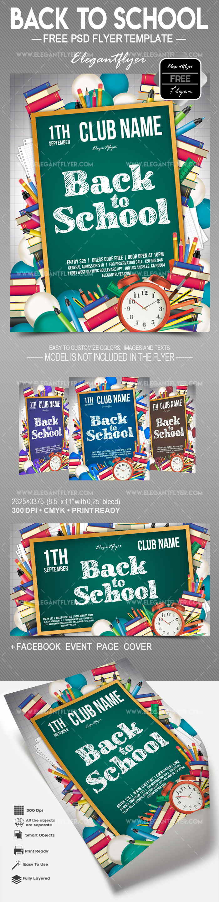Back to School – Free Flyer PSD Template