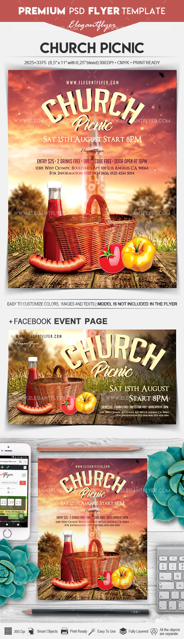 Church Picnic – Flyer PSD Template