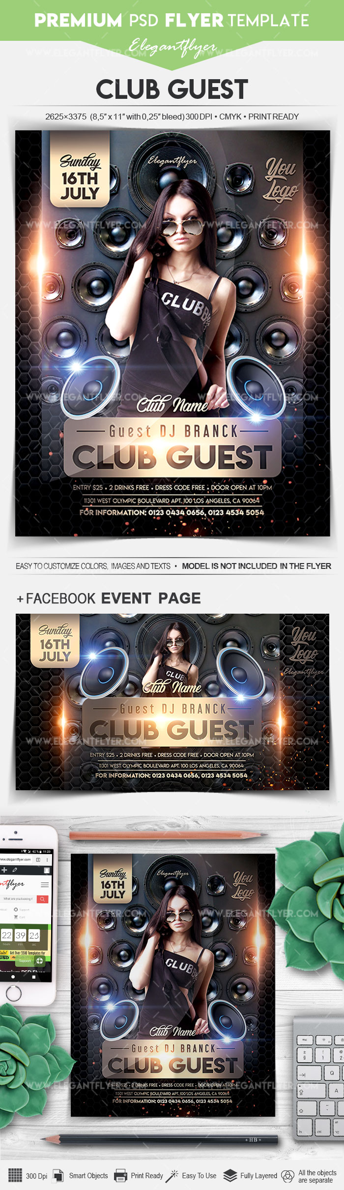 Club Guest – Flyer PSD Template