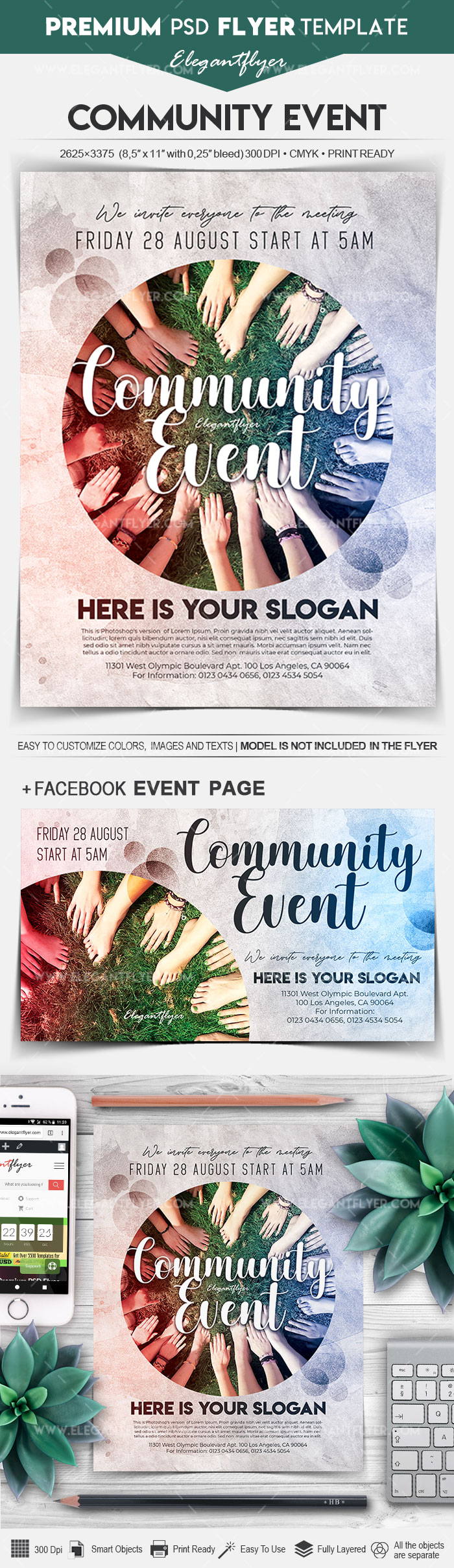 Community Event – Flyer PSD Template