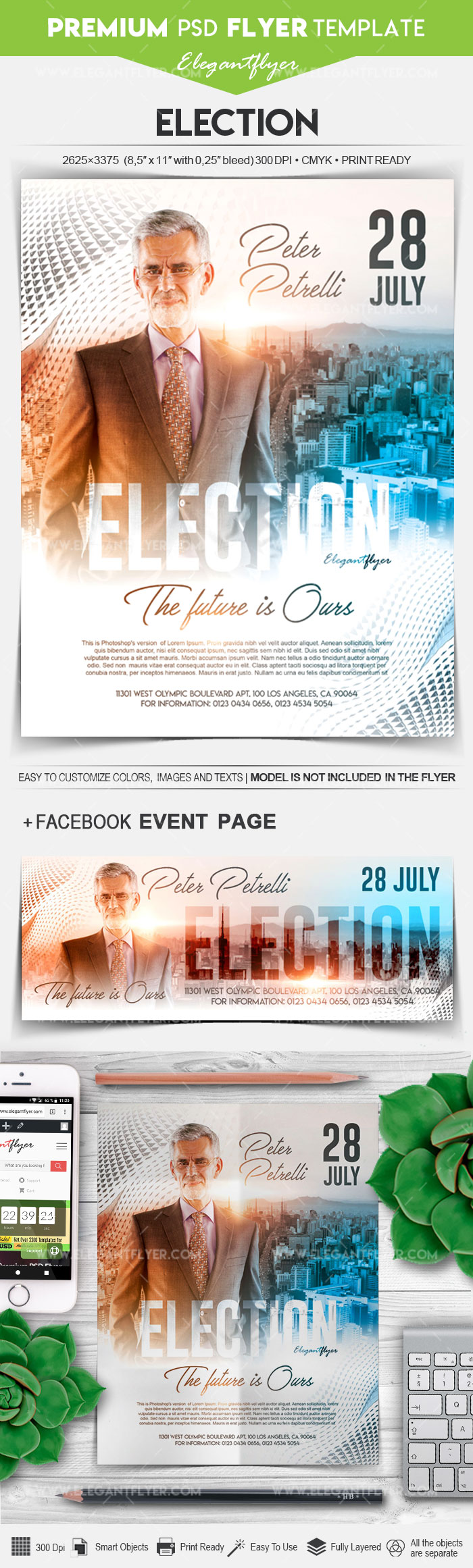 Election – Flyer PSD Template