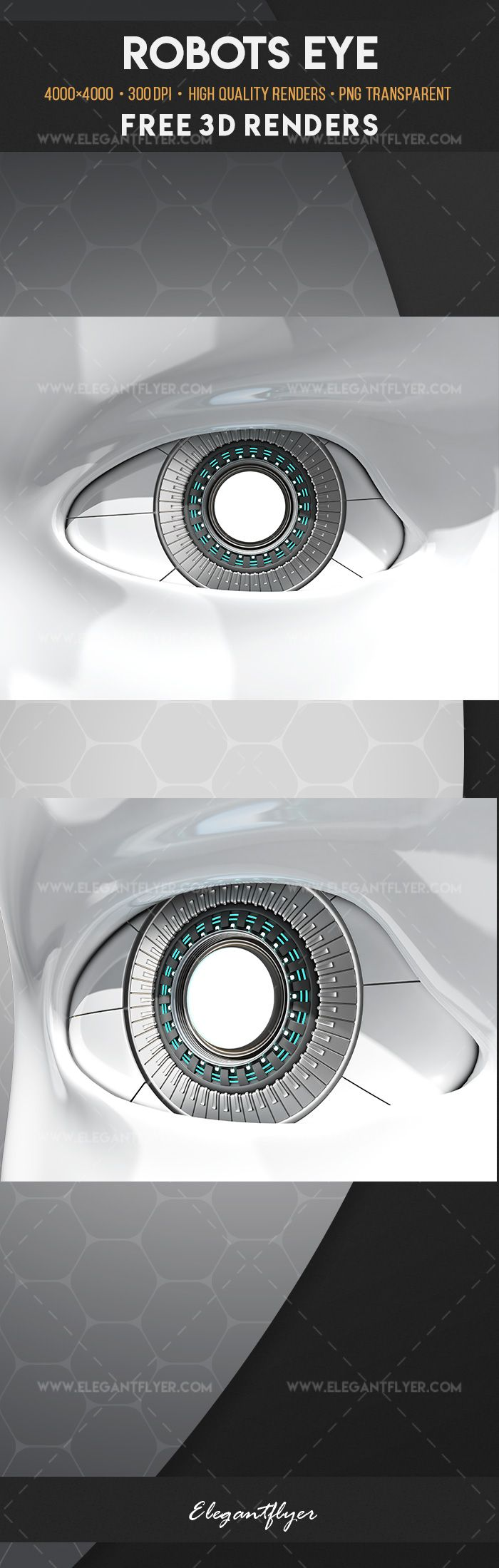 Robots Eye – Free 3d Render Templates