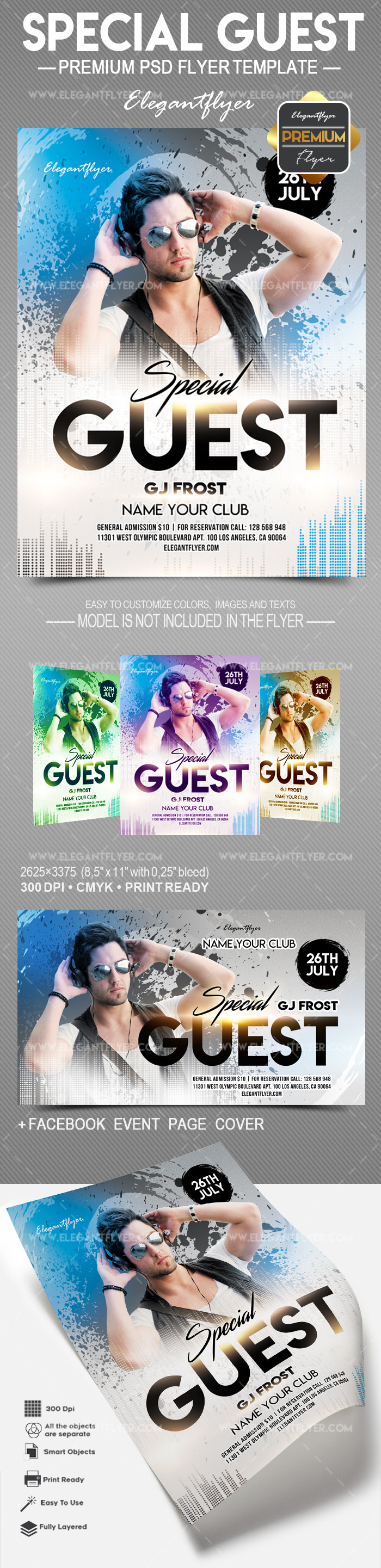 Special Guest – Flyer PSD Template