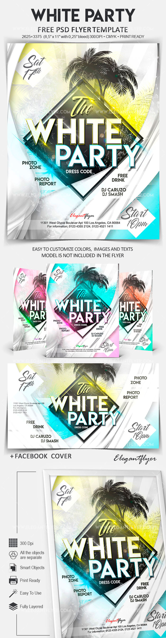 White Party – Free Flyer PSD Template