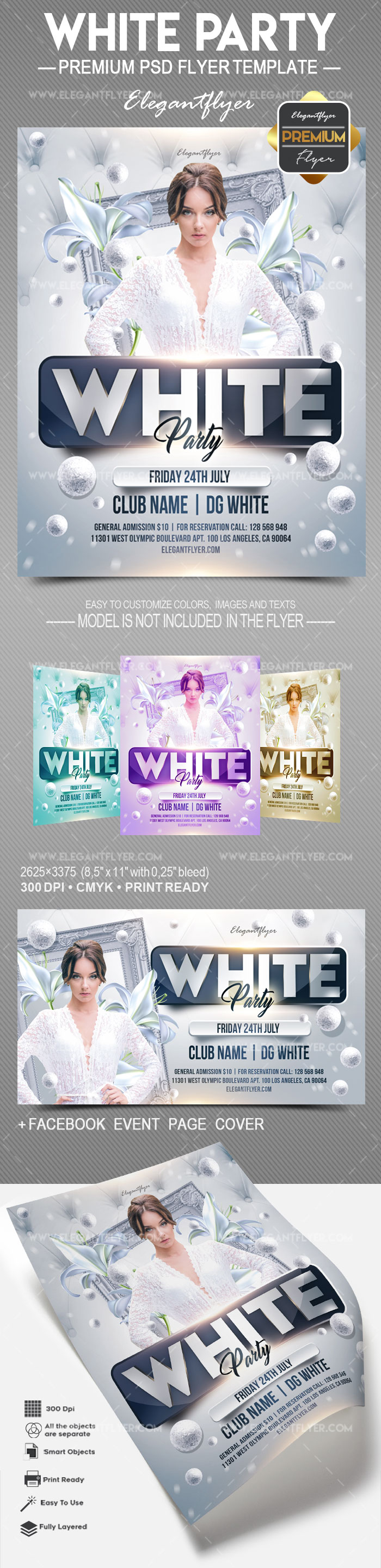 White Party – Flyer PSD Template