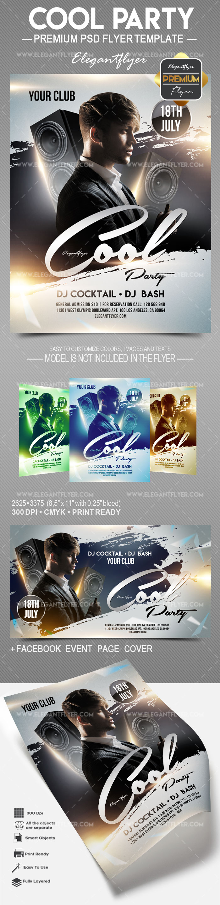 Cool Party – Flyer PSD Template