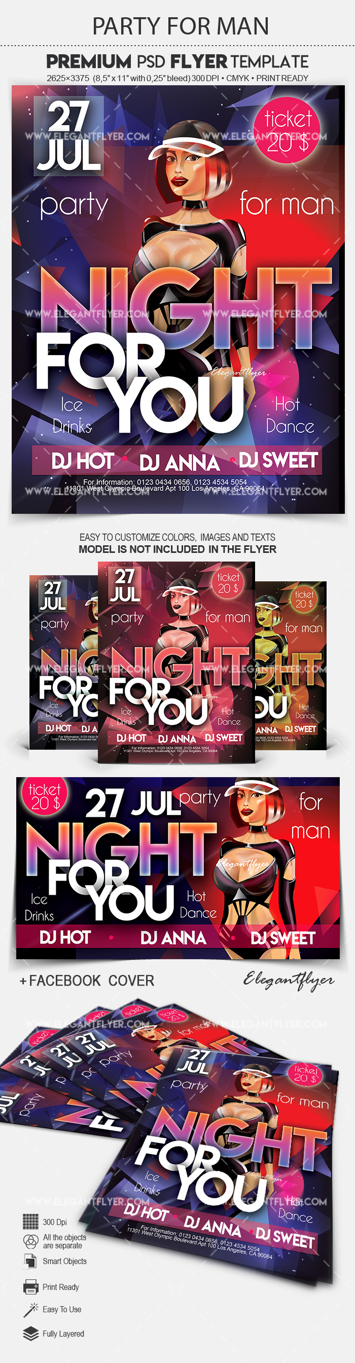 Party For Man – Flyer PSD Template