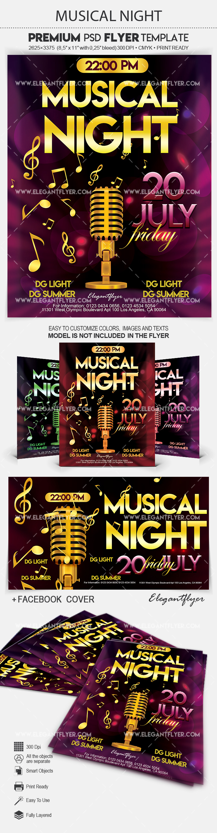 Musical Night – Flyer PSD Template