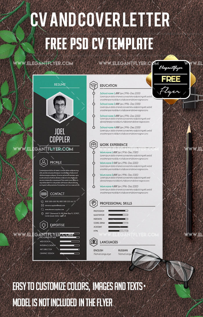 23+ Free and Premium Professional Resume & Cover Letter PSD Templates!