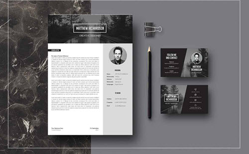 20 Free and Premium Professional Resume & Cover Letter PSD Templates
