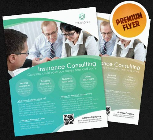15 Free & Premium Flyer PSD Templates for Insurance Agency Promotion