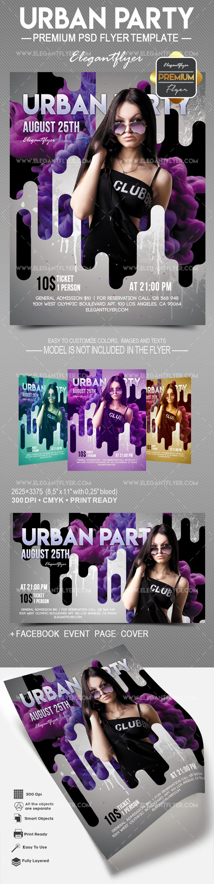 Urban Party – Flyer PSD Template