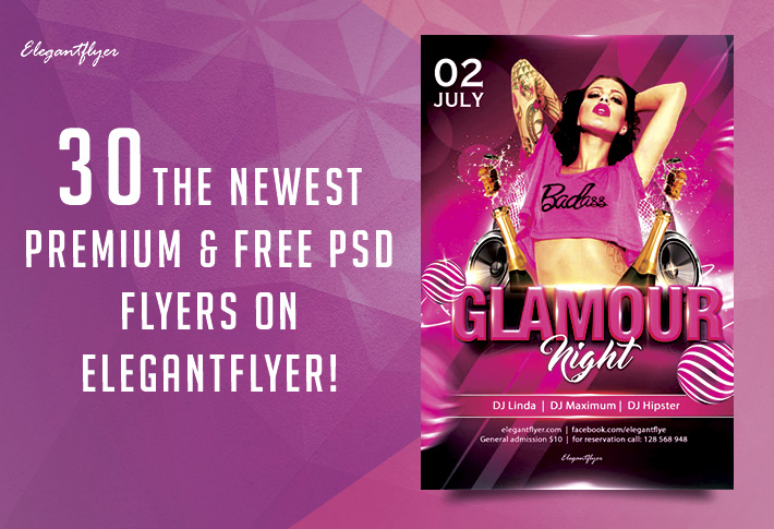 30 The Newest Premium & Free PSD Flyers on Elegantflyer!