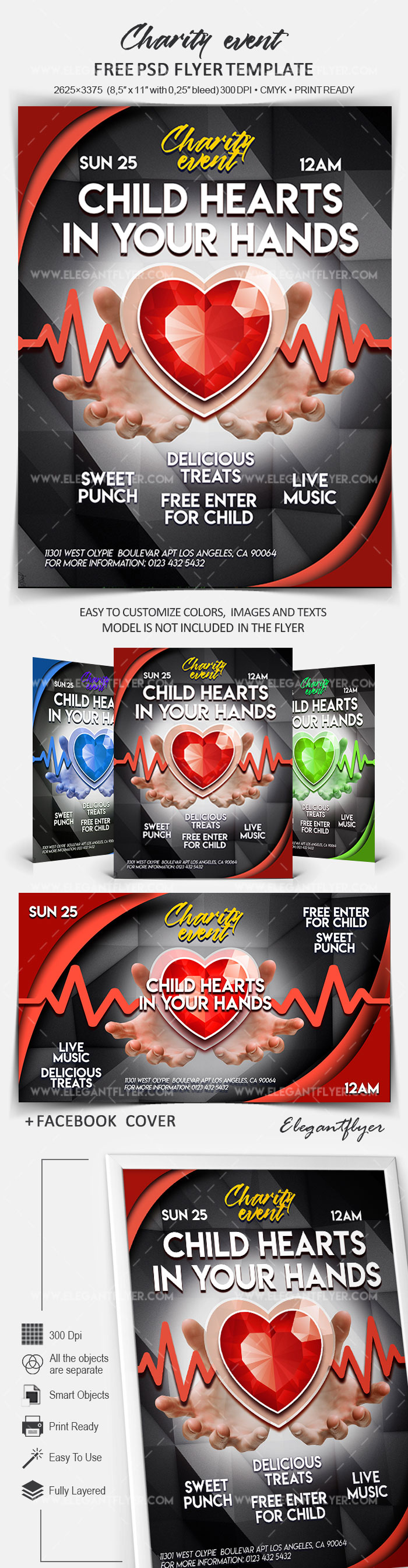 Charity Event – Free Flyer PSD Template