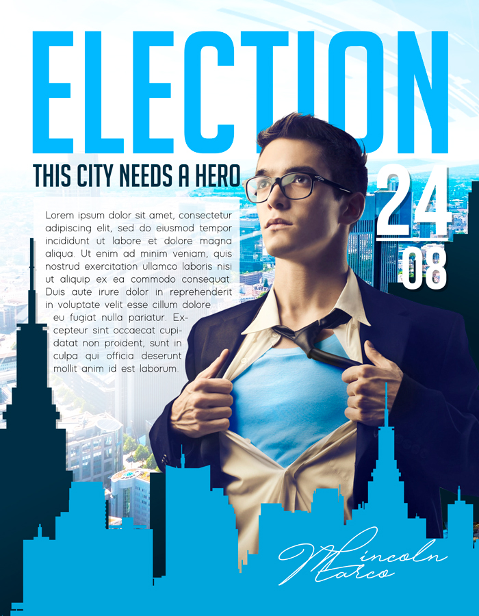 Election flyer – Flyer PSD Template