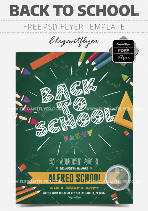 20 Free & Premium Back-to-School Flyer Print-Ready Templates