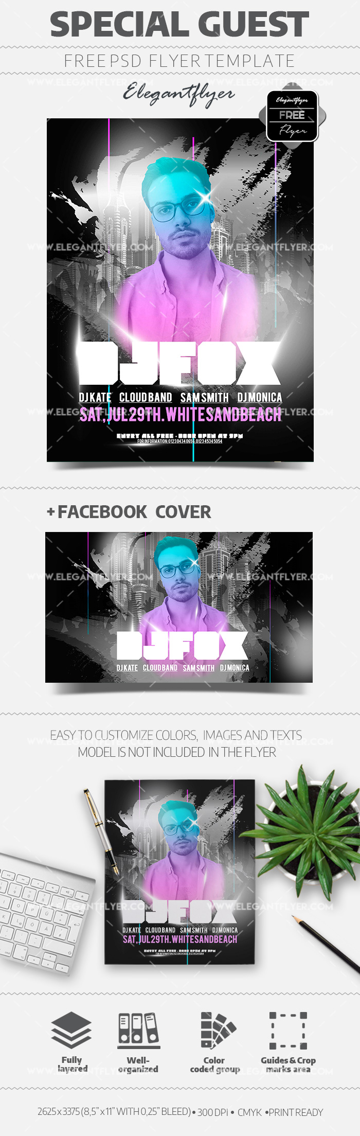 Special Guest – Free Flyer PSD Template