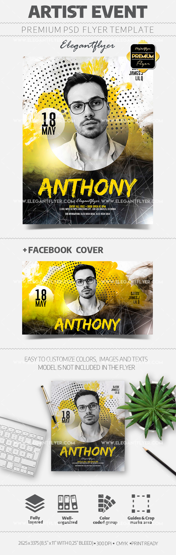 Artist Event – Flyer PSD Template