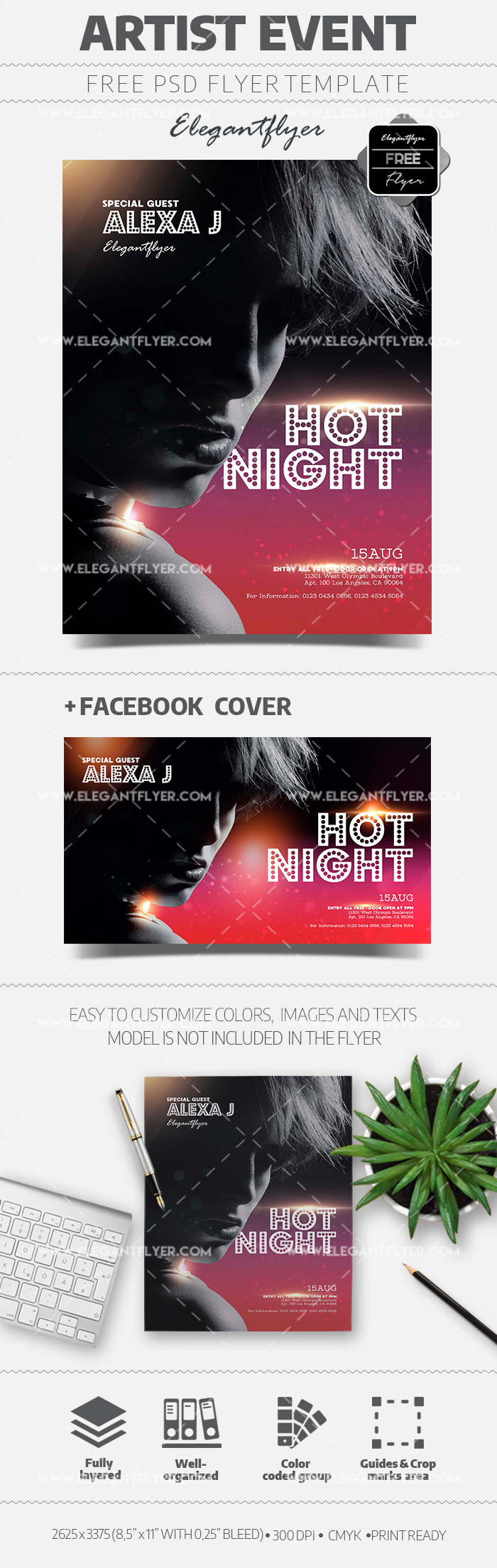 Artist Event – Free Flyer PSD Template