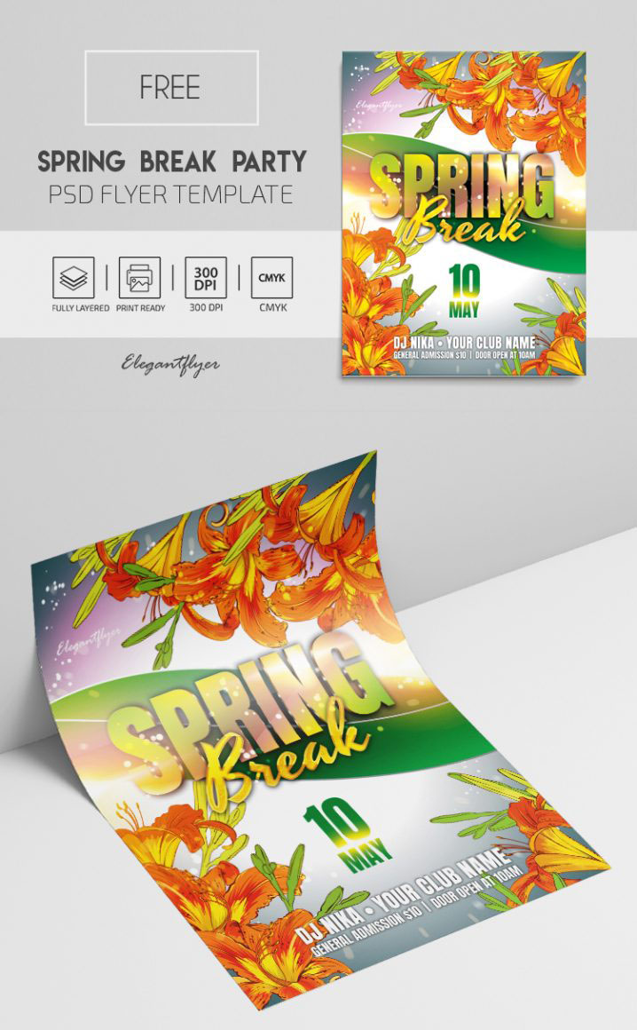 25+ Absolutely Free Party Flyer Templates in PSD!
