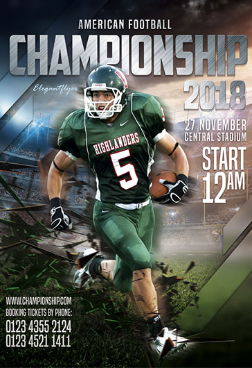 Football championship – Flyer PSD Template