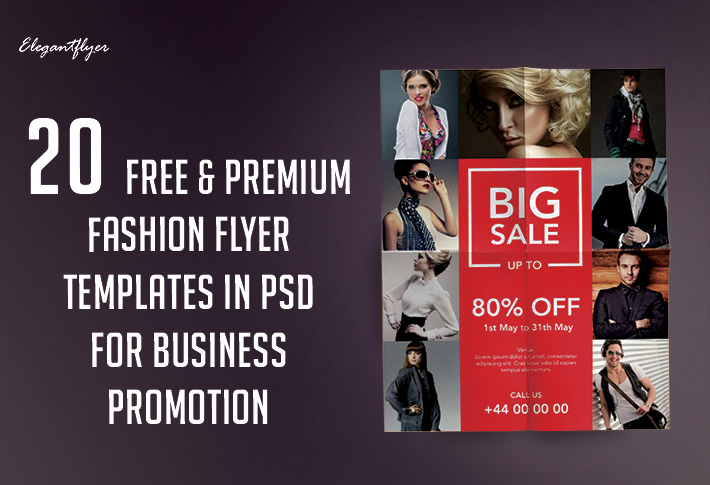 20 Free & Premium Fashion Flyer Templates in PSD for Business Promotion