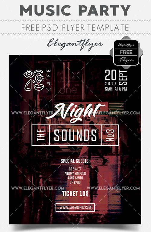 20 Party Flyer Templates in PSD 2018 You Can Download for Free