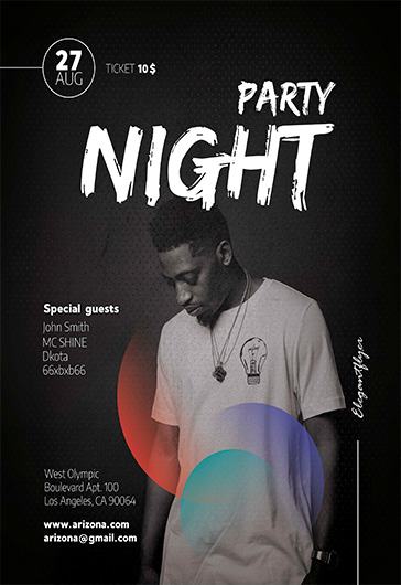 Club Party – Flyer PSD Template + Facebook Cover