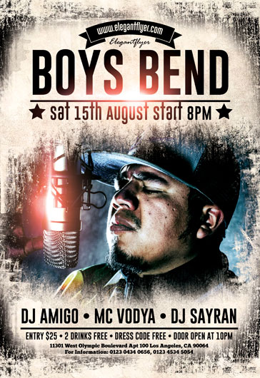 Boys Bend – Flyer PSD Template