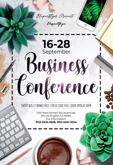 Business Conference – Flyer PSD Template