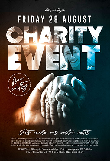 Charity Event – Flyer PSD Template