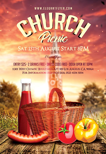 Church Picnic Flyer Psd Template By Elegantflyer