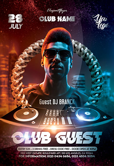 Club DJ – Flyer PSD Template