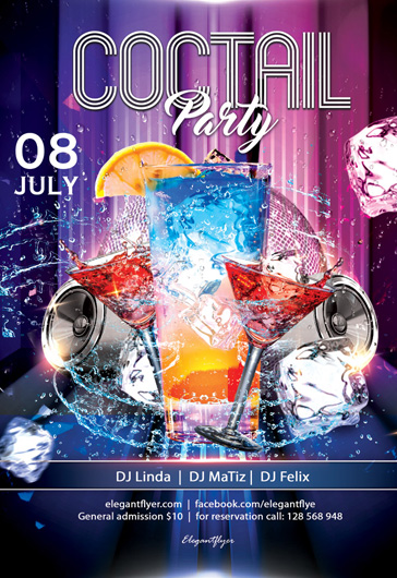 Coctail Party – Free Flyer PSD Template