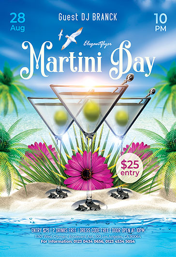 Martini Day – Free Flyer PSD Template