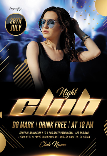 Hot Club Night – Flyer PSD Template