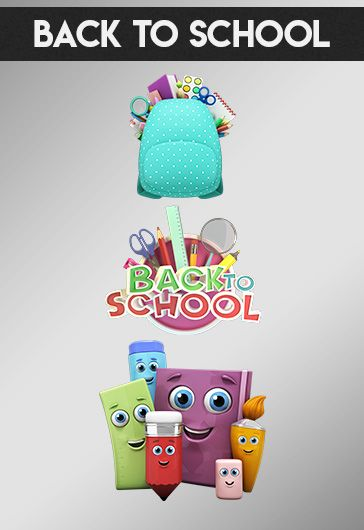 Back to school – Premium 3d Render Templates